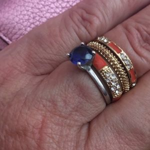 Jewelry - Three enameled stack rings